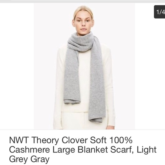 74b892672972 Theory 100% cashmere blanket scarf